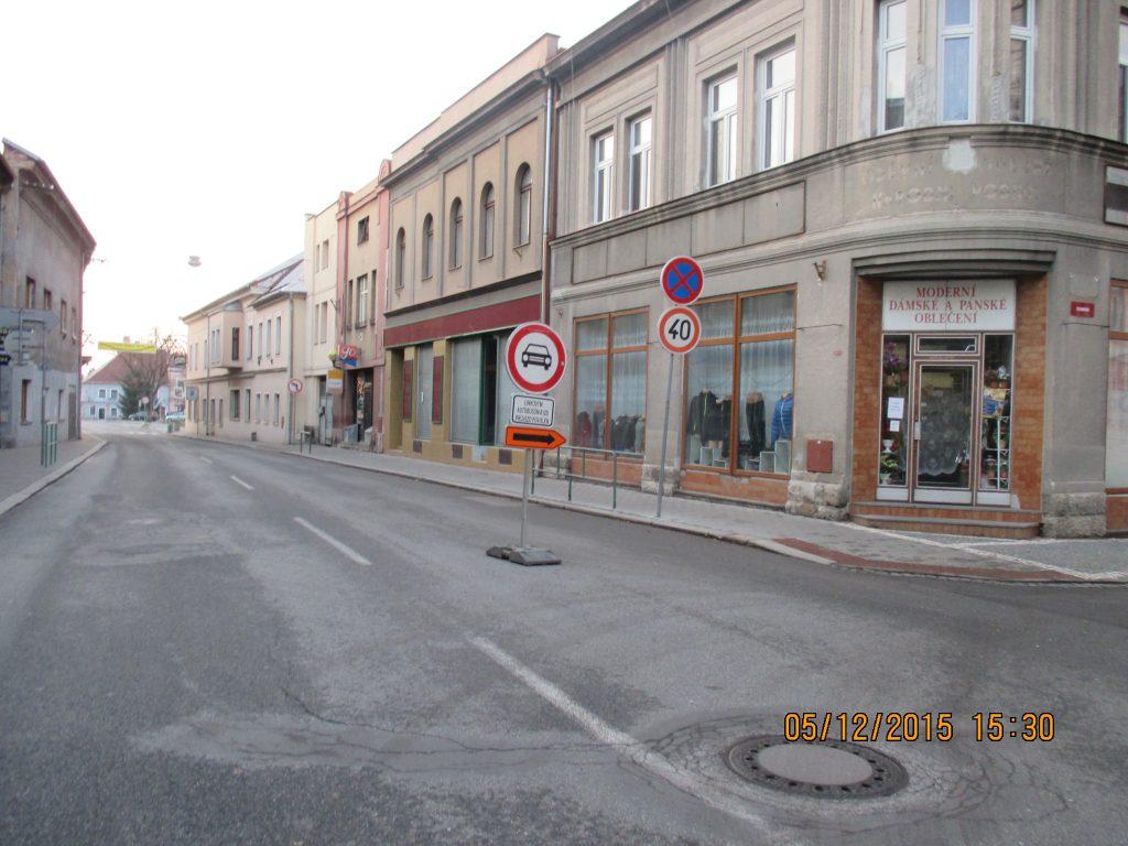 Kulturní akce a uzavírka Masarykova náměstí.