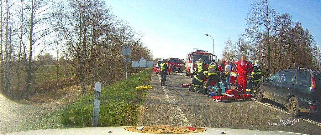 Dopravní nehoda osobního vozidla s cyklistou