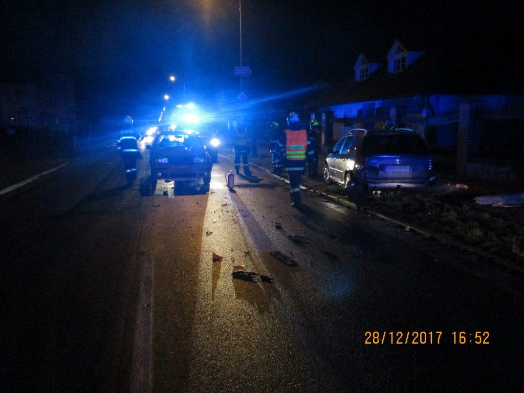 Dopravní nehoda v ulici Hradecká