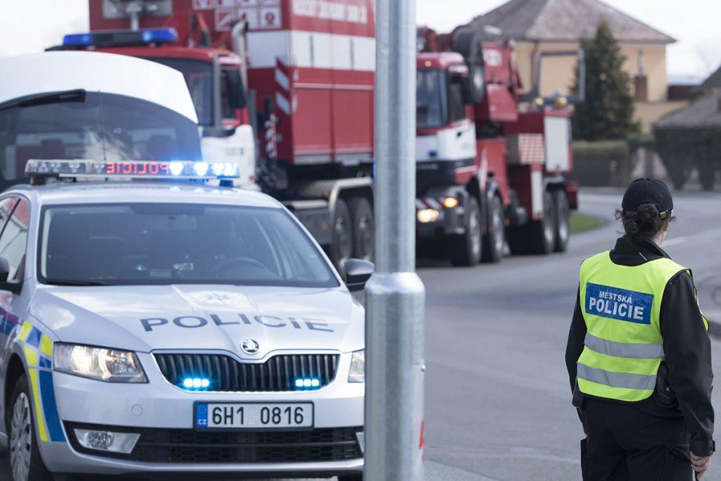 Dopravní nehoda – Krňovice vysypaný náklad