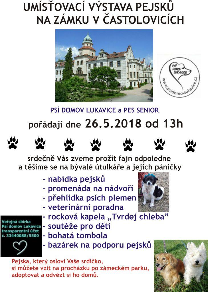 Umísťovací výstava pejsků na zámku v Častolovicích