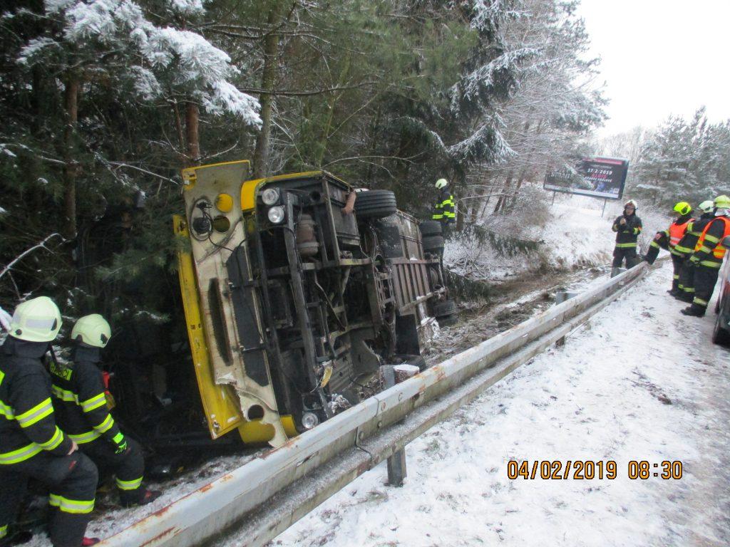 Dopravní nehoda autobusu
