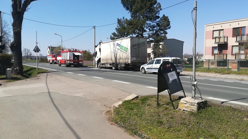 Požár nákladního vozidla