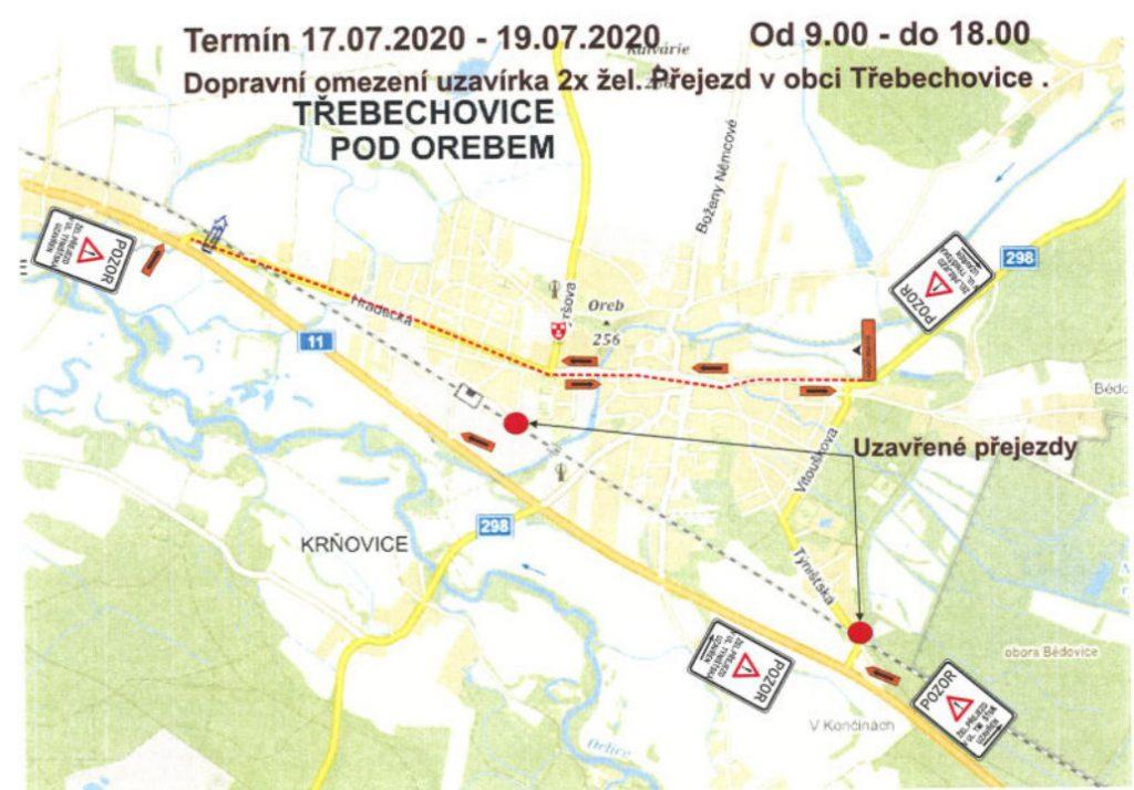 Dopravní opatření – uzavírka  železničních přejezdů v ul. Týnišťská a Resslova